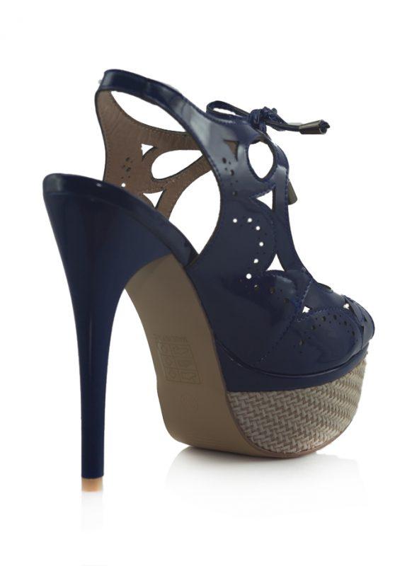 Marjin Bağcıklı Platform Topuklu Lacivert Ayakkabı 3