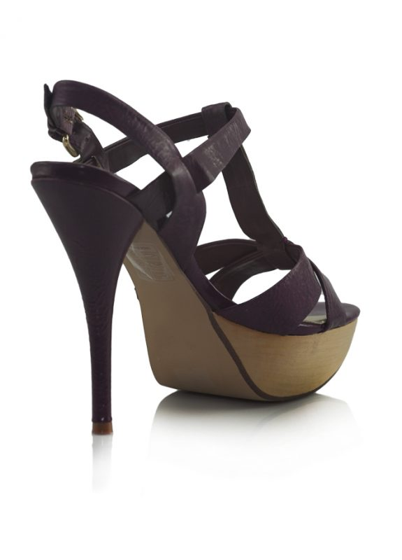 Steve Madden Mor Platform Topuklu Sandalet 3