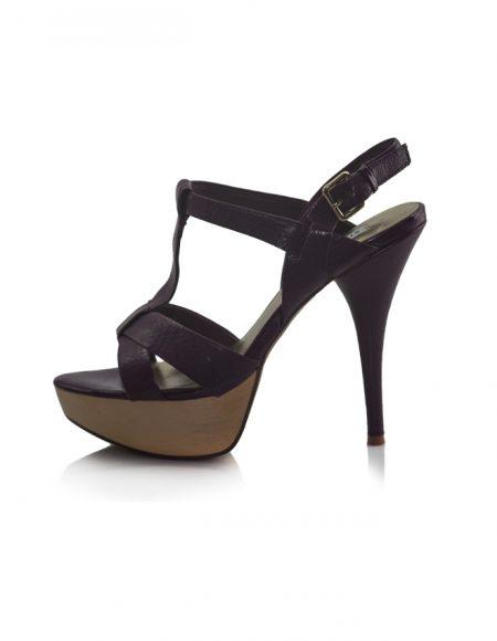 Steve Madden Mor Platform Topuklu Sandalet 2