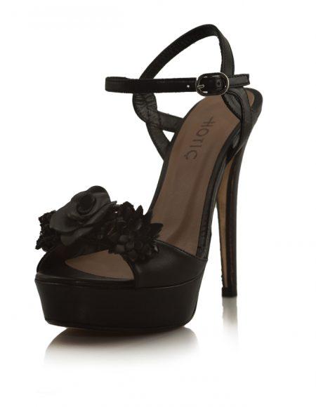 Hotiç Platform İnce Topuklu Siyah Ayakkabı