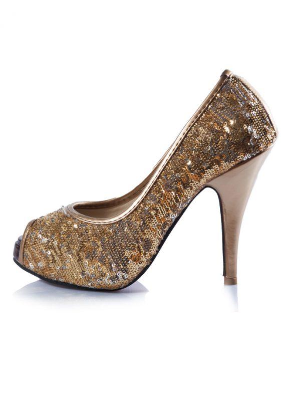 Dore Pul Abiye Açık Burun Topuklu Ayakkabı 2