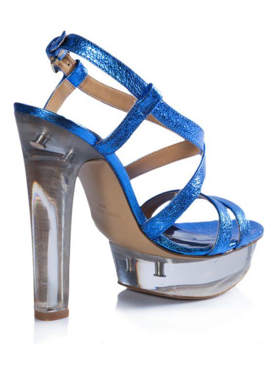 Nine West Yazlık Parlak Mavi Topuklu Ayakkabı 3