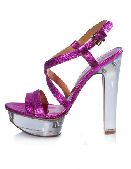 Nine West Yazlık Parlak Pembe Topuklu Ayakkabı 2