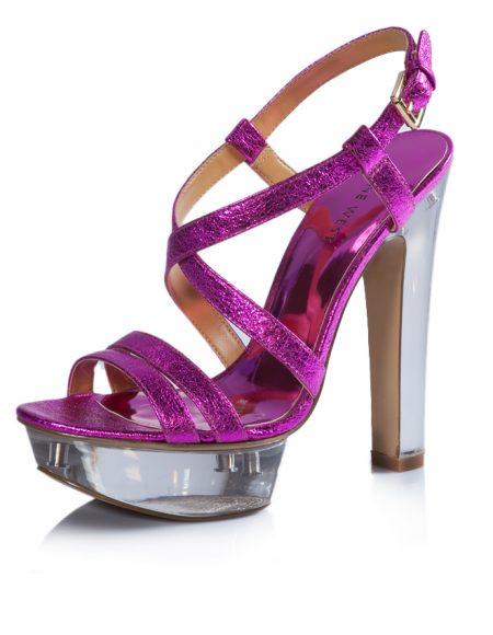 Nine West Yazlık Parlak Pembe Topuklu Ayakkabı