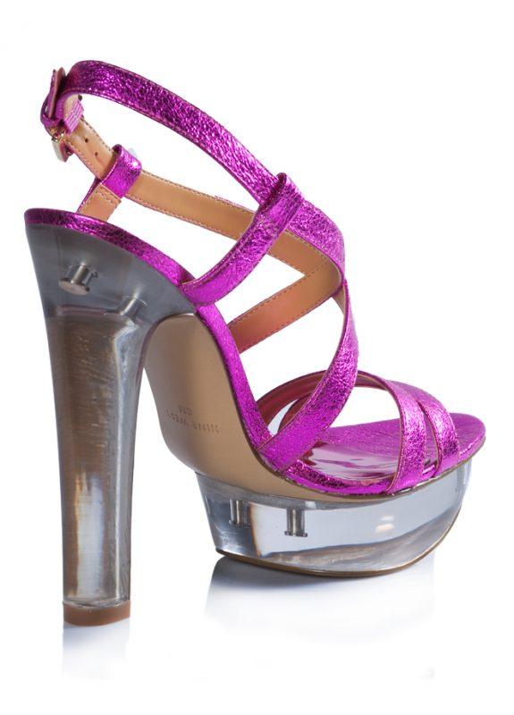 Nine West Yazlık Parlak Pembe Topuklu Ayakkabı 3