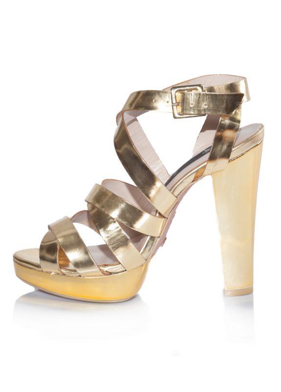 Mango Yazlık Dore Platform Topuklu Ayakkabı 2