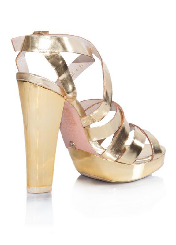 Mango Yazlık Dore Platform Topuklu Ayakkabı 3