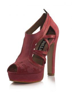 Kırmızı Platform Topuklu Sandalet Ayakkabı