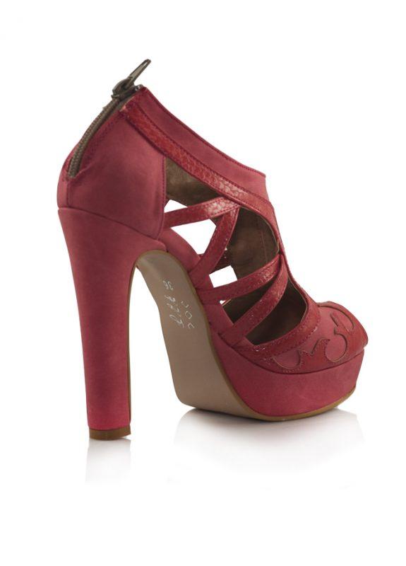 Kırmızı Platform Topuklu Sandalet Ayakkabı 3