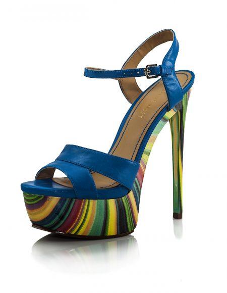 Nine West Topuklu Yazlık Mavi Ayakkabı
