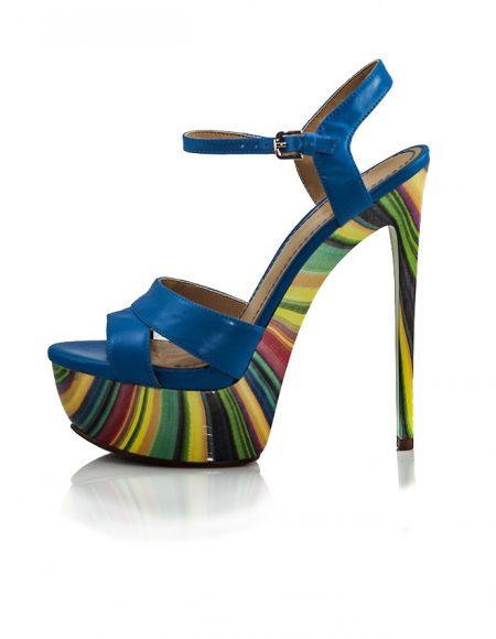 Nine West Topuklu Yazlık Mavi Ayakkabı 2
