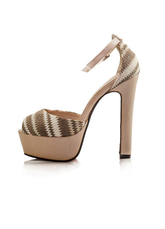 Topuklu Platform Ayakkabı Aodina Desert Açık Kahve ince bantlı ayakkabı bilekten tokalı 2