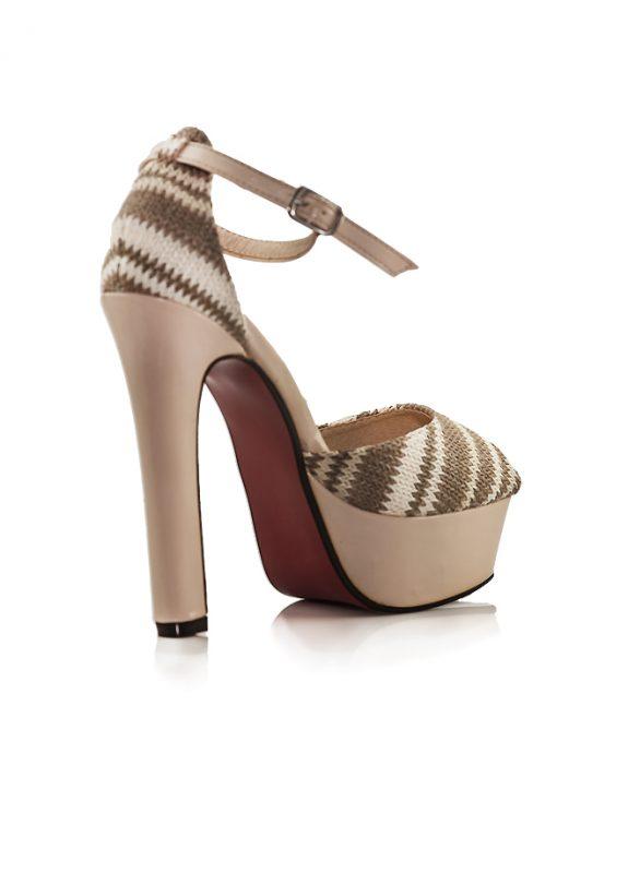 Topuklu Platform Ayakkabı Aodina Desert Açık Kahve ince bantlı ayakkabı bilekten tokalı 3