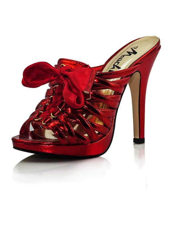 Topuklu Terlik Yummy Parlak Kırmızı