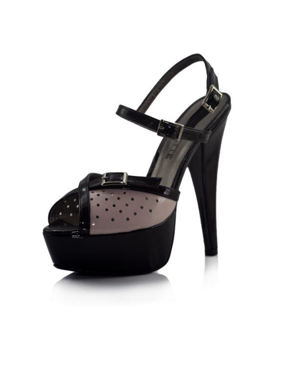 Platfrom Topuk Pembe Renk Bantlı Ayakkabı