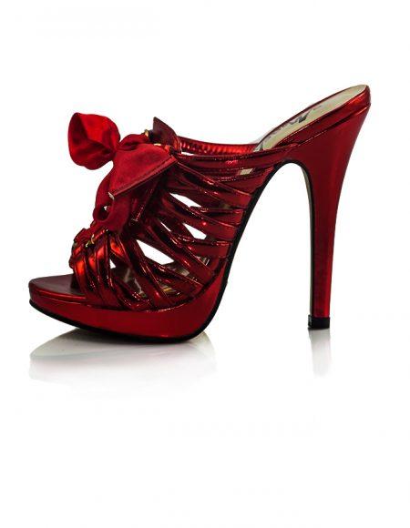 Topuklu Terlik Yummy Parlak Kırmızı 2
