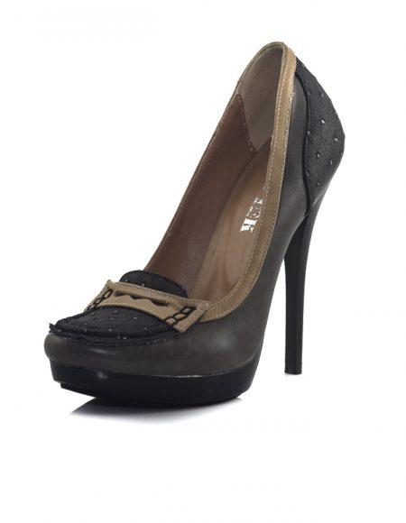 Koyu Füme Dilli Klasik Topuklu Ayakkabı
